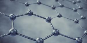 Fina camada de grafeno composto inteiramente por carbono