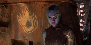 """Nebula has turned on Thanos and joins the ragtag of superheroes in """"Guardians of the Galaxy 2."""" (via Marvel/Comingsoon.net)"""