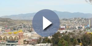 Panorámica del Centro de Tijuana y la frontera con Estados Unidos