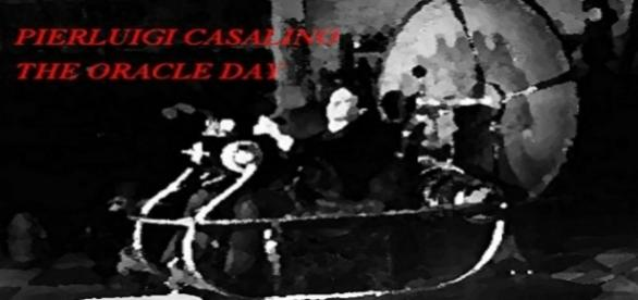 """cover: Pierluigi Casalino """"The Oracle Day"""" (Asino Rosso publisher) by Amazon"""