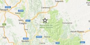 L'epicentro è stato individuato nel Parco Nazionale dei Monti Sibillini