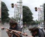 Estudante foi agredido enquanto fazia manifestação