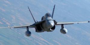El guardián del Baltico. F-18 en vuelo.