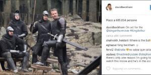 King Arthur, David Beckham sul set (Credits: David Beckham Instagram)