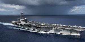 La portaerei Carl Vinson in un'immagine scattata pochi giorni fa nel Mare delle Filippine