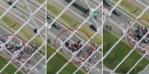 Motorista foi preso por tentativa de homicídio ao jogar carro em cima de manifestantes