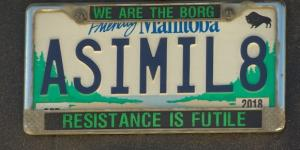 Star Trek-themed 'ASIMIL8' vanity plate insensitive, has to go ... - cbc.ca