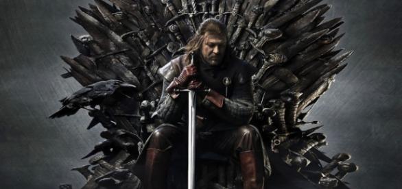 Eddard Stark sobre el trono de hierro