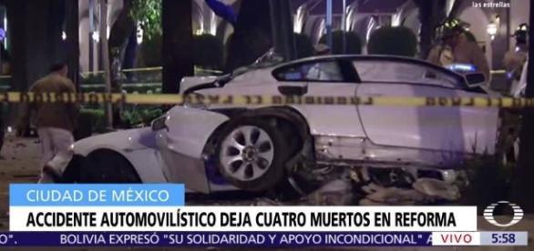 Accidente automovilístico deja cuatro muertos en Reforma ... - televisa.com