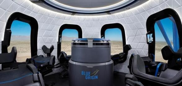 Blue Origin gives a sneak peak of its tourist capsule | Daily Mail ... - dailymail.co.uk