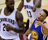 LeBron James laughs as Stephen Curry flails and NBA Finals go to ... - sportingnews.com