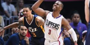 Chris Paul and the Clippers try to advance past Utah in Game 7 on Sunday. [Image via Blasting News image library/latimes.com]