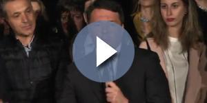 Matteo Renzi subito dopo la vittoria delle Primarie del PD