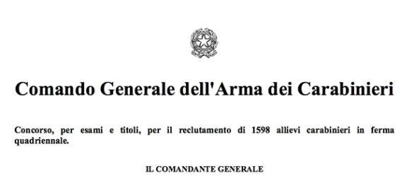 Concorso dell'Arma dei Carabinieri