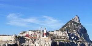Una suggestiva immagine della rocca di Gibilterra