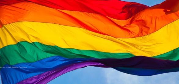 Imagem da bandeira LGBT criada por Baker