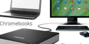 Crome box (Desktop) y Chromebook (laptop)