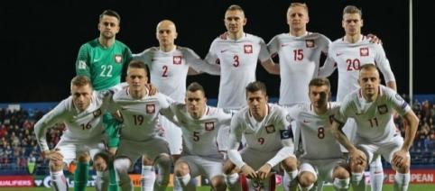 Reprezentacja Polski przed meczem z Czarnogórą fot/Cyfra Sport