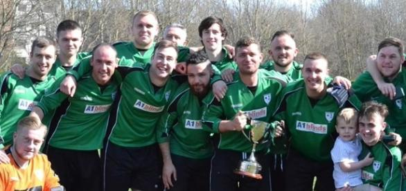 Grainger Park with the Northern Alliance Amatuer Cup. Pic courtesy Northern Alliance.