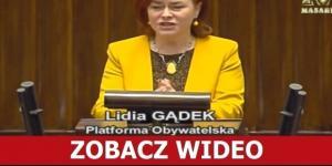 Lidią Gądek z PO zadziwiła sejmowe gremium.