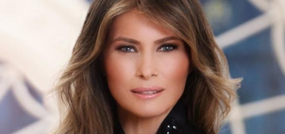 Melania Trump's portrait ...(via - bbc.co.uk)