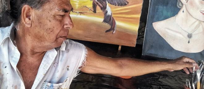 El pintor colimense que llegó con el terremoto