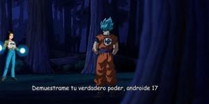 Goku se enfrenta a Numero 17 en el bosque
