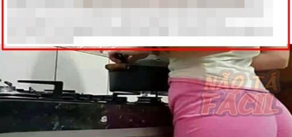 Imagem que mostra a cena vista pelo garoto