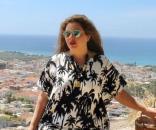 """Fluvia Lacerda, modelo 'plus-size"""" brasileira, fotografa na ilha de Paros (Foto: Reprodução/Instagram)"""