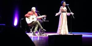 Caetano Veloso y Teresa Cristina en el Palacio de la Ópera (A Coruña). 30abril2017.