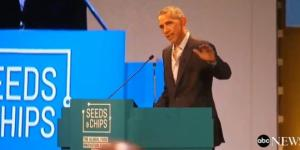 Standing ovation ieri per Obama ospite a Milano per il Global food innovation Summit