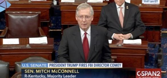 """Sen. Mitch McConnell Calls Comey Reaction """"Partisan"""" / Photo by philly.com via Blasting News library"""
