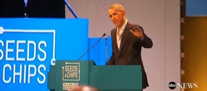 L'ex presidente americano Barack Obama al Global Food Innovation Summit a Milano