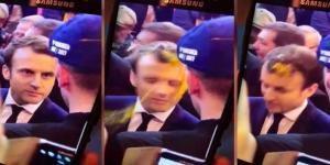 Emmanuel Macron victime d'un jet d'oeuf au salon de l'Agriculture le 1er mars 2017