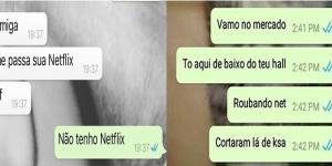 Conversas inusitadas de pessoas pobres no WhatsApp
