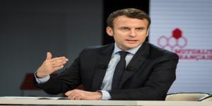 Emmanuel Macron lors d'une rencontre à la Mutualité Française