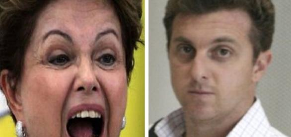 Dilma e Luciano Huck em polêmica política - Imagem/Google