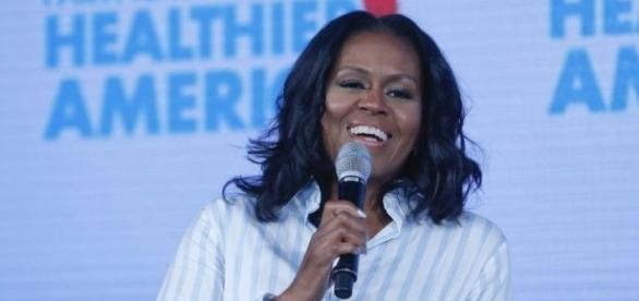 Michelle Obama at Partnership for a Healthier America Summit (image via Fox Business)