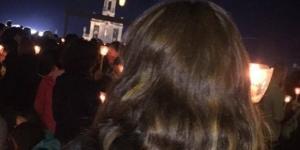 Em oração no Santuário de Fátima