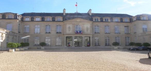 La cour du Palais de l'Elysée le 31 juillet 2012
