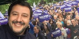 L'europarlamentare e segretario della Lega Nord, Matteo Salvini