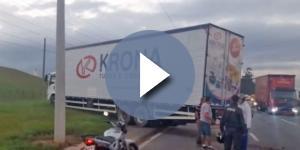 Caminhoneiro dirigia sob o efeito de drogas e causou acidente