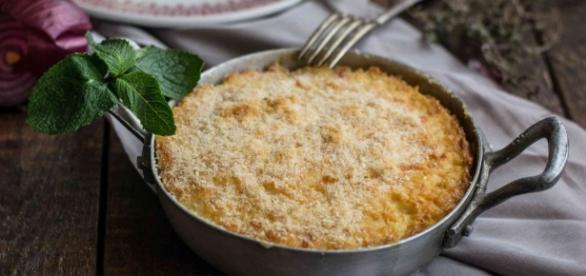 Il risotto Di San pietro al melone, cibo per gli occhi.