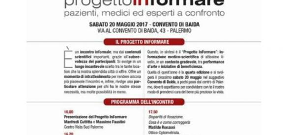 Locandina e programma dell'evento.