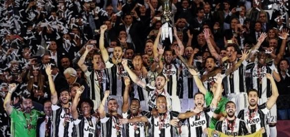 La Vecchia Signora celebrando su duodécima Copa Italia