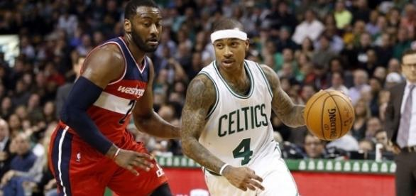 Thomas and the Celtics ousted Wall and the Wizards in Game 7 in Boston on Monday. [Image via Blasting News image library/thebetterbettors.com]