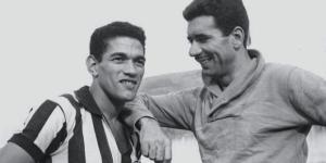 Nilton Santos (à direita) com Mané Garrincha