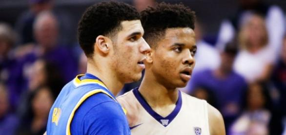 Ball and Fultz are projected to be amongst the top three picks in the NBA Draft. [Image via Blasting News image library/espn.com]