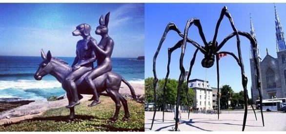 Estátuas esquisitas encontradas em diversos locais