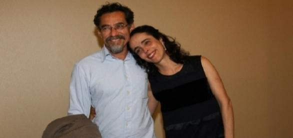 Silvia Buarque de Hollanda com o marido Chico Diaz